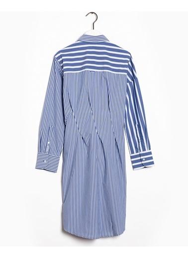 Gant Kadın Desenli Elbise Mavi